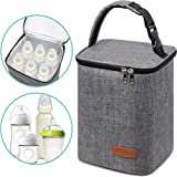 Breastmilk Cooler Bag Insulated Baby Bottle Bag, Reusable Baby Bottle Tote Bag for up to 6 Bottles 4 Large 9 Oz Like Dr. Brow