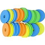 Honbay 20PCS 68mm Fishing Foam Spools Fishing Line Spools Circular Winding Plates