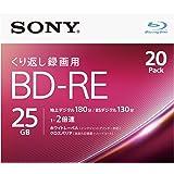 ソニー ビデオ用ブルーレイディスク 20BNE1VJPS2(BD-RE1層:2倍速 20枚パック)