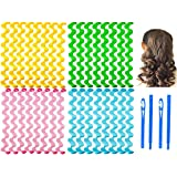 32 Pieces Hair Curlers Styling Kit,No Heat Hair Curls Hair Curlers Magic Hair Rollers Heatless Wave Styles with 2 Pieces Styl