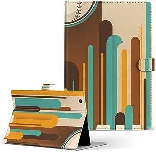 igcase Qua tab PX au LGエレクトロニクス Quatab LGT31 タブレット 手帳型 タブレットケース タブレットカバー カバー レザー ケース 手帳タイプ フリップ ダイアリー 二つ折り 直接貼り付けタイプ 006199 スポーツ 野球 イラスト