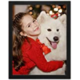Ophanie Picture Frame, Black Photo Frames Made of Solid Wood High Definition Glass