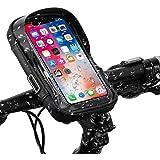 自転車 スマホホルダー 防水 360度回転 携帯ホルダー 防塵 遮光 防圧 収納可能 スマホ スタンド バイク スクーター ホルダー iPhone Android 多機種 画面6.5インチまでのスマホに対応