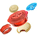 Sandwich Cutter and Sealer, Uncrustables Maker, DIY Sandwich Decruster for Kids Great for Lunchbox and Bento Box, Boys and Gi