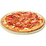 Pizza Stone for Best Crispy Crust Pizza, Only Stoneware with Thermarite (Engineered Tuff Cordierite). Durable, Certified Safe
