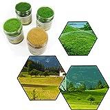人工芝生パウダー モデル草 5mm 情景コレクション グラス模型 建物モデル 装飾 風景 箱庭 鉄道模型 ジオラマ DIY