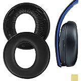 Geekria QuickFit イヤーパッド 互換性 パッド SONY PlayStations PS4, PS3, PSV Gold Wireless ヘッドホンに対応 イヤパッド/イヤークッション/イヤーカップ (プロテインレザー/ブラック)
