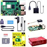 KEYESTUDIO Raspberry Pi 4 Kit with 4GB RAM Board, 32GB Micro SD Card, 5V 3A Power Supply, Case, HDMI Cable, SD Card Reader, F