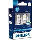 Philips 127994000KX2 X-Tremeultinon LED Interior Car Light W5W T10 4000K 12V, Set of 2, Warm White