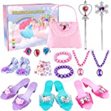 Meland Princess Dress Up - My First Purse Set for Toddler Girls with 4 Pairs of Play Shoes and Jewelry Accessories - Princess