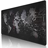 """Kriture Gaming Mouse Pad Extended Mouse Map Mat (World Map 31.5""""x11.8""""inch,3mm),Nonslip Base, Thick, Comfy, Waterproof and Fo"""