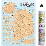 Mcbazelスクラッチマップオフ韓国版パーソナライズされた旅行ポスターTravel Atlas Decor
