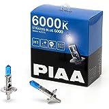 PIAA ヘッドランプ/フォグランプ用 ハロゲンバルブ H1 6000K ストラスブルー 車検対応 2個入 12V 55W(100W相当) 安心のメーカー保証1年付 HZ505