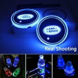 License plate frameX 2pcs LED Car Cup Holder Lights, 7 Colors Changing USB Charging Mat Luminescent Cup Pad, LED Interior Atm