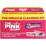 Stardrops - The Pink Stuff - The Miracle Cleaning Kit (2 Cleaning Paste, 1 Brilliant Scourer Pad, 1 Microfiber Pad)