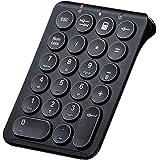 Bluetooth テンキー kcblue ワイヤレス テンキーパッド 無線 数字キーボード 人間工学設計 22キー Tabキー付き 薄型 持ち運び便利 1000万回高耐久 Mac OS/iOS/Windows/Android対応 1年間保証付き/日