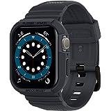 Spigen Apple Watch バンド 44mm 一体型 ケース カバー 耐衝撃 PC TPU 二重構造 スポーツバンド 落下 衝撃 吸収 耐久性 傷防止 SE/Series 6 / Series 5 / Series 4 対応 ラギッド・アー