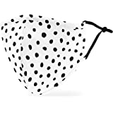 Weddingstar Washable Cloth Face Mask Reusable and Adjustable Protective Fabric Face Cover w/Dust Filter Pocket - Dalmatian Do