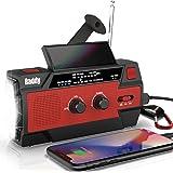 Raddy 多機能防災ラジオ 大容量5800mAh 手回し充電 ソーラー 災害ラジオ 3つモード懐中電灯&人感センサー読書灯付き iPhone/Android 携帯充電可能 電池残量表示でき SOS緊急警報 反射ストリップ付き AM/FM対応 アウト