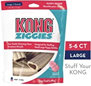 KONG - Ziggies™ Puppy - Teeth Cleaning Dog Treats - Puppy Recipe - Large (Best used with KONG Puppy Rubber Toys)
