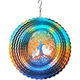Fonmy Stainless Steel Wind Spinner Worth Gifts Indoor Outdoor Garden Decoration Crafts Ornaments 12Inch Multi Color Life Tree