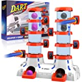 LAYEKN Double Barrels Target, Competitive Practice Toys for Boys and Girls Ages 6-10, Battle Shooting Games Set, Nerf Target