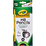 CRAYOLA 68 2021 HB Graphite Pencils, Grey Leads, 12 Pack, Eraser on each pencil, Erasable Graphite, Great for the School, Cla