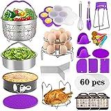 Aiduy 23 Pieces Accessories for Instant Pot 6,8 Qt, Pressure Cooker Accessories Set - 2 Steamer Baskets, Springform Pan, Stac