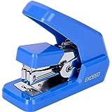 Deli Effortless Stapler, Mini Desktop Stapler, 15 Sheets Capacity, One Finger Touch Stapling, No Effort, Blue