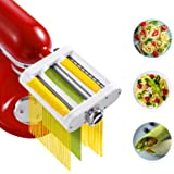 Jovan Home Pasta Maker Attachment 3-in-1 Compatible With KitchenAid Stand Mixer Built-in Pasta Roller - Fettuccine Cutter - S
