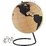 Cork Globe - Educational World Globe - Desk Globe - Study Globe by Globes Hub - Rotating Globe Table Decor - Perfect for Home