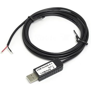 ルートアール 多機能 自作入力装置用USBスイッチケーブル 1スイッチ用 RI-SWCB1