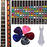 Guitar Fretboard Stickers, Kimlong Color Coded Note Decals Fingerboard Frets Map Sticker for Beginner Learner Practice Fit 6