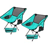 Lightweight Folding Camping Backpack Chair,FBSPORT Compact & Heavy Duty Portable Chairs for Hiking Picnic Beach Camp Backpack