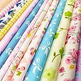 flic-flac 25pcs 8 x 8 inches (20cmx20cm) Cotton Craft Fabric Bundle Squares Patchwork Lint DIY Sewing Scrapbooking Quilting D