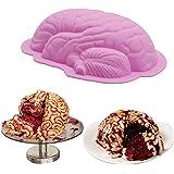 AnFun 脳用シリコン型 1パック Lサイズ 人間 ゾンビ 脳の型 ケーキ キャンディ クリスマスケーキ型 アイスキューブ プディング チョコレート ケーキ作り ハロウィーン ベーキング 脳の小道具 デコレーション