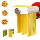 ANTREE Pasta Maker Attachment for KitchenAid Stand Mixers with Pasta Drying Rack & Cleaning Brush, 3-1 Set includes Pasta She