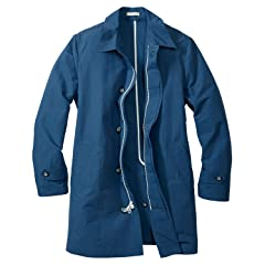 Trench Coat 019714: Dusted Indigo