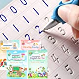 Magic Ink Copybooks for Kids Reusable Handwriting Workbooks for Preschools Grooves Template Design and Handwriting Aid Magic