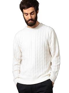 Cashmere Cable Crewneck Sweater 1213-105-3234: White
