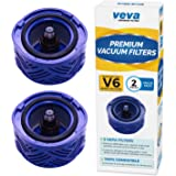 VEVA 2 Premium Vacuum HEPA Filters Set Compatible with Dyson V6 Absolute Vacuums, Filter Part # 966741