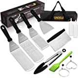 Griddle Accessories Kit, Restaurant Grade Stainless Steel Griddle Spatula Set for Flat Top Grill Professional Spatulas Tool K