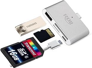 SDカードリーダーUSB-C,RDII USB Cハブ 多機能OTG Type Cメモリーカードリーダライタ高速転送Type-cハブ マルチカードリーダーSD/SDHC/SDXC/microSD/microSDXC対応 Android/Windows/MacOS用 (シルバー)