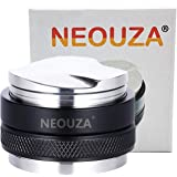 NEOUZA 53mm Coffee Distributor & Tamper 2 in 1,Dual Head Coffee Leveler Fits for 54mm Breville Portafilter, Adjustable Depth-