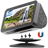Echo Show Stand for Echo Show 5 and Echo Show 8, Universal Adjustable Speaker Stand Mount Magnetic Holder with Aluminum Anti-
