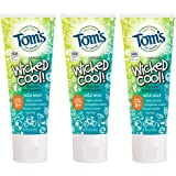 Tom's of Maine Natural Wicked Cool! Fluoride Toothpaste for Kids, Mild Mint, 4.2 oz. 3-Pack