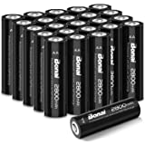 BONAI 単3形 充電池 充電式ニッケル水素電池 24個パック(超大容量2800mAh 約1200回使用可能) 液漏れ防止設計 自然放電抑制 環境友好タイプ