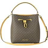 Michael Kors - Suri Large Leather Bucket Crossbody Drawstring Hobo Handbag (Marigold)