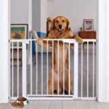 """Cumbor 46"""" Auto Close Safety Baby Gate, Extra Tall and Wide Child Gate, Easy Walk Thru Durability Dog Gate for The House, Sta"""
