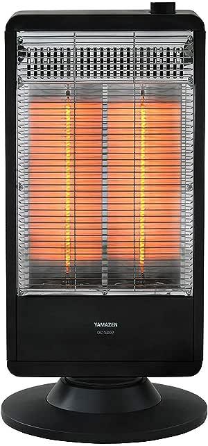 [山善] 遠赤外線カーボンヒーター(900W/450W 2段階切替) 自動首振り機能付 ブラック DC-S097(B) [メーカー保証1年]